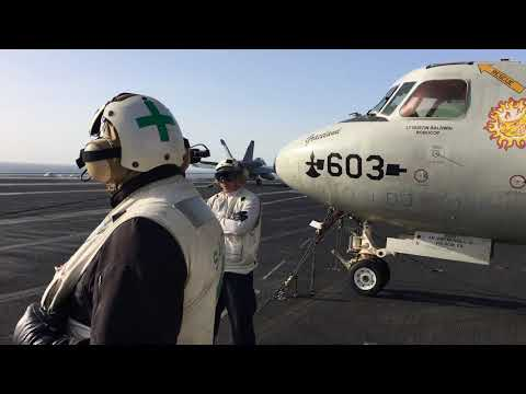 Media trip to a US aircraft carrier in the Arabian Gulf