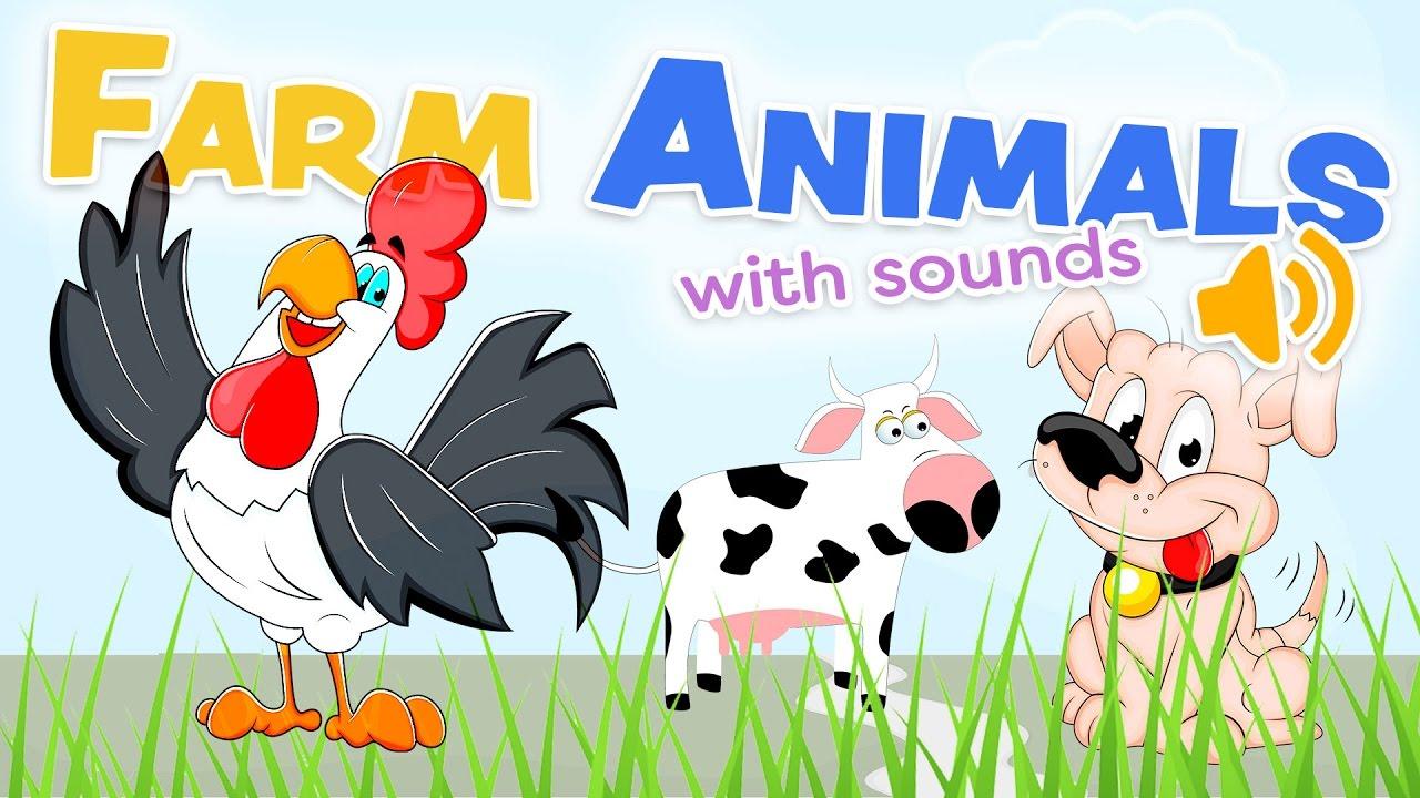 Los Animales De La Granja Con Sonidos Palabras En Inglés Y Español Youtube