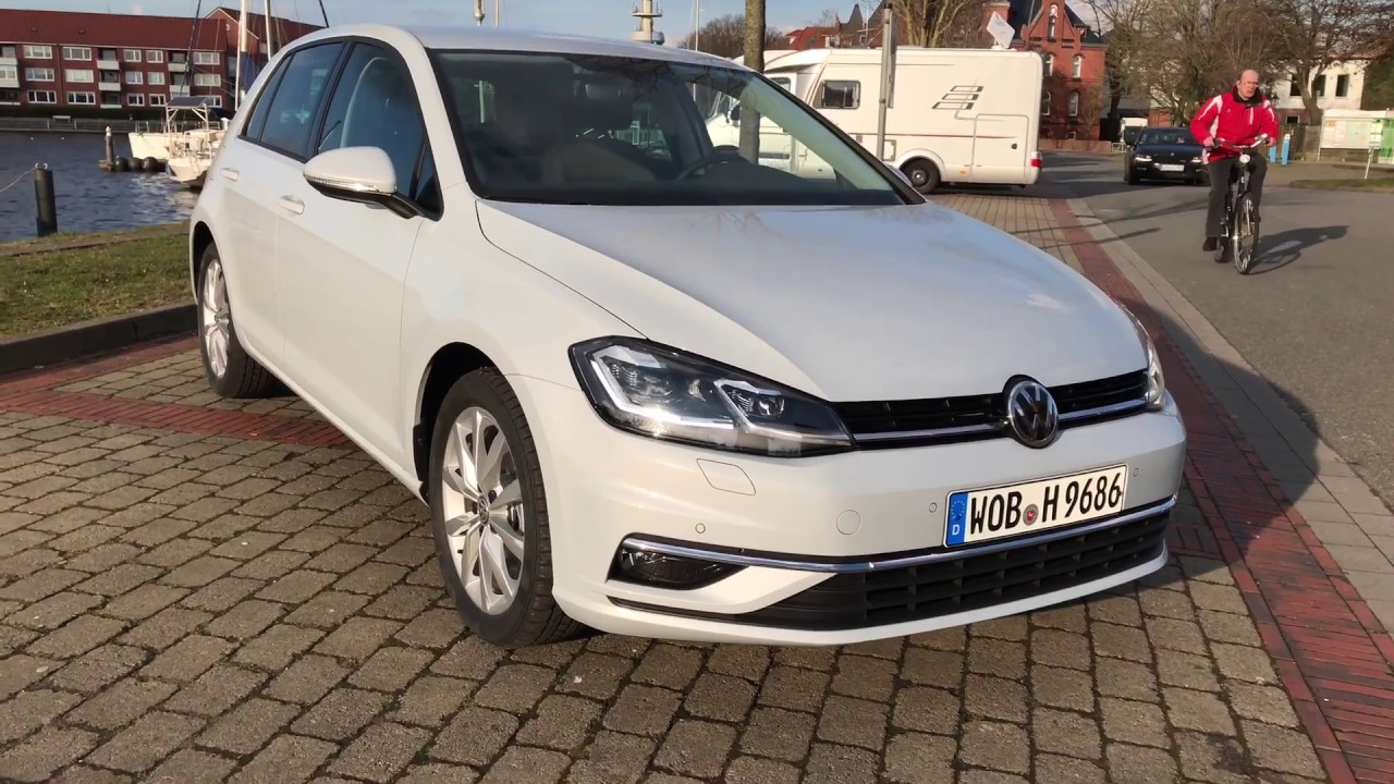 vw golf 7 facelift highline white silver metallic youtube. Black Bedroom Furniture Sets. Home Design Ideas