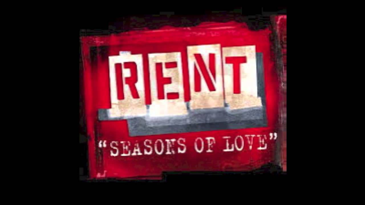 Rent Seasons Of Love Backing Track Youtube