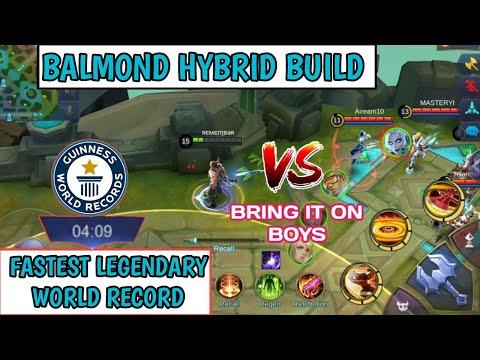 HYBRID BUILD   FASTEST LEGENDARY   WORLD RECORD   MOBILE LEGENDS