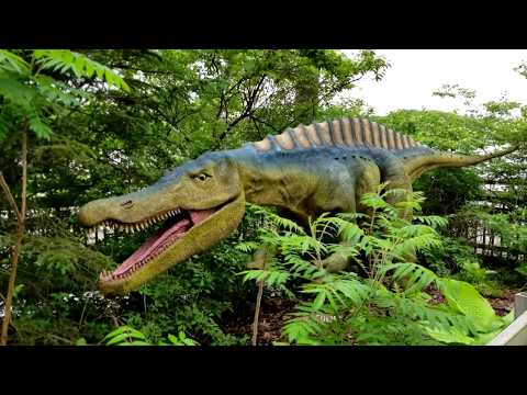Columbus Zoo Dinosaur Island Boat Ride and Walk-through 2018 Experience