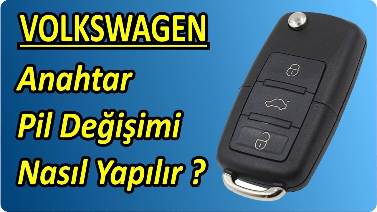 Volkswagen VW - Skoda - Seat Anahtar Pil Değişimi Nasıl Yapılır ? | Key Battery Change Replacement