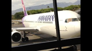 Hawaiian Airlines flight took off in 2018, landed in 2017