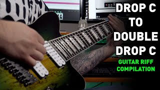 Drop C To Double Drop C And Everything In Between 6 String to 8 String Guitar Riff Compilation