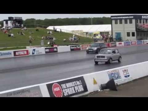 Me driving. Classic Mini Rover K series VVC. MITP 2015