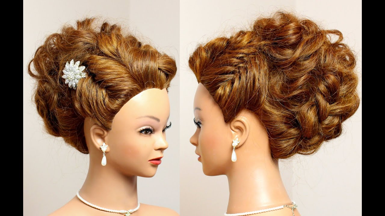 prom bridal updo. hairstyle for long hair tutorial.
