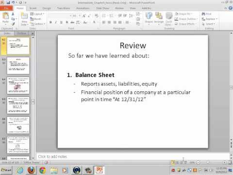 Intermediate Accounting I (Balance Sheet; Statement of Cash Flows 1) - Rebecca Bloch - YouTube