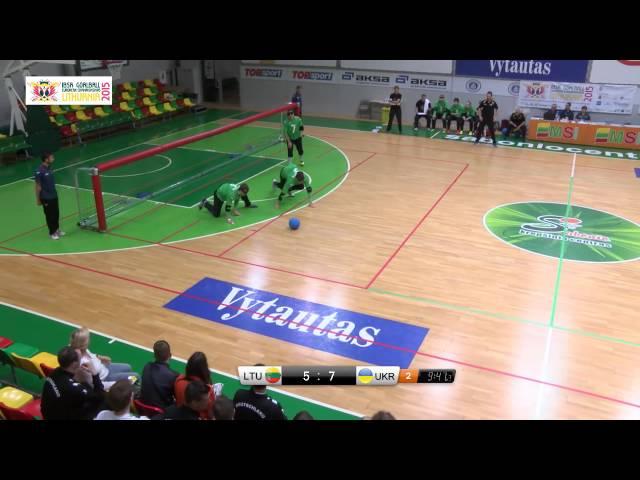 47 Lithuania   Ukraine Men 2015 IBSA Goalball European Championships Lithuania