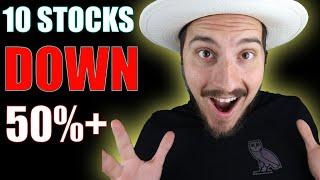10 Stocks Down 50%+ Aŗe These Stocks To Buy Now?!