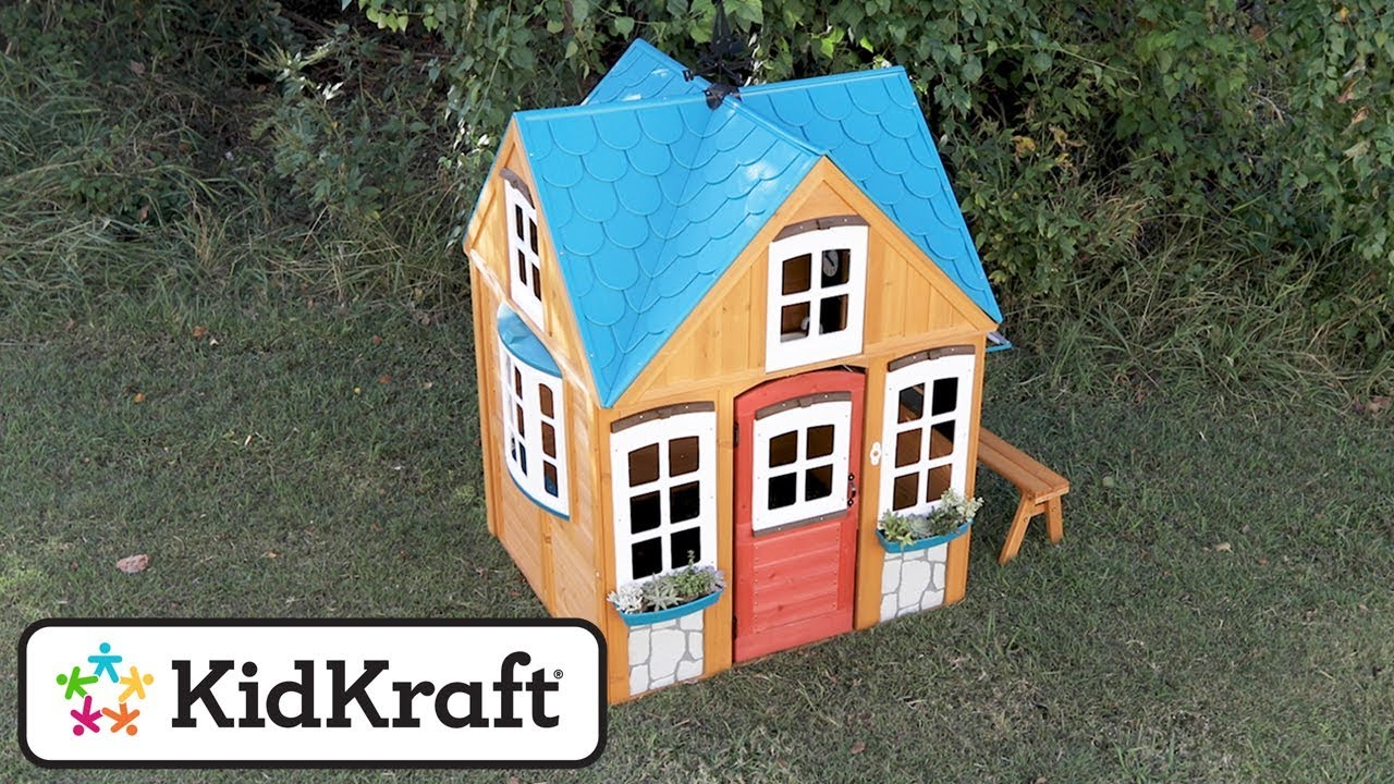 Seaside Cottage Outdoor Playhouse Toy Demo By Kidkraft Youtube