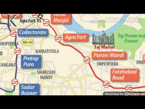 Agra Metro Route Map || All Stations
