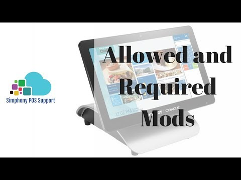 Required And Allowed Condiments - Oracle Micros Simphony POS Training And Support