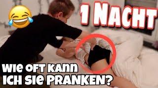 Wie oft kann ich Bibi in 1 Nacht PRANKEN ?! 😲😂 | Julienco