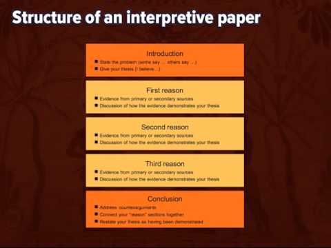 How to write an interpretive essay