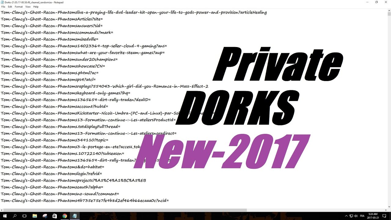 How to Get Private Dorks -2017