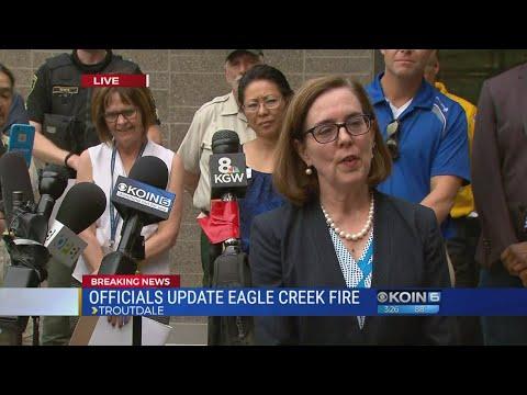 Gov. Kate Brown addresses Eagle Creek Fire