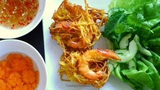 Bánh Tôm - Shrimp and Sweet Potato Fritter Recipe