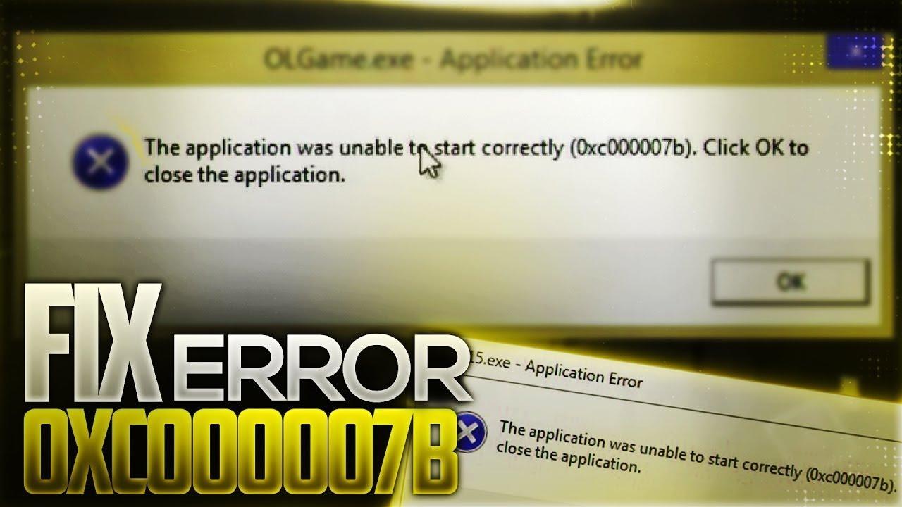 how to fix 0xc000007b windows 7