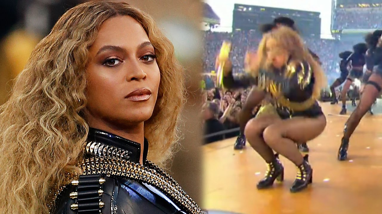 maxresdefault beyonce almost falls on her bey hind during super bowl 50 halftime
