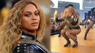 Beyonce Almost Falls On Her Bey-hind During Super Bowl 50 Halftime Performance