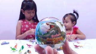 Jessica Jenica UNBOXING 9 Dinosaurus SURPRISE EGG 💖 BONCHA! Mainan Anak Dinosaurus Edition