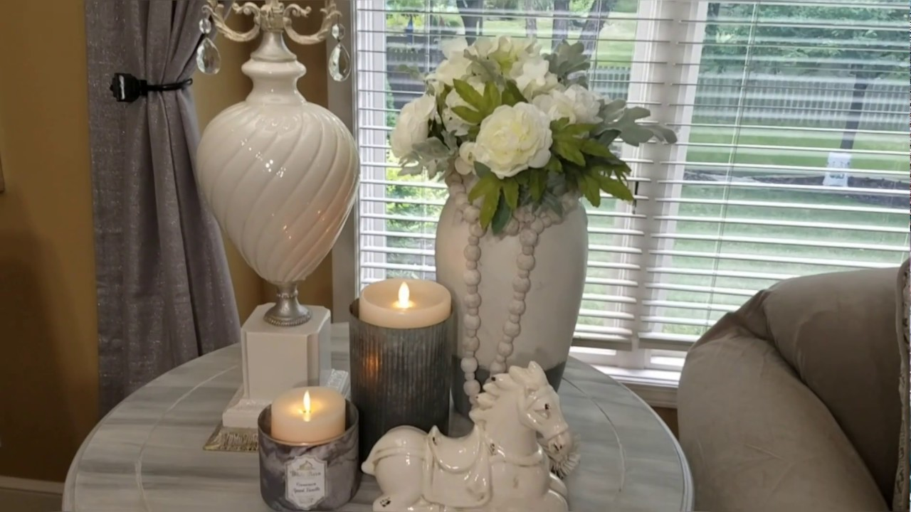 tips ideas on decorating a side table quick tip wednesday