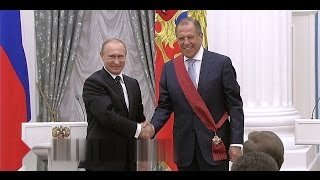 Орден за заслуги перед Отечеством 1-ой степени: С. Лавров, В. Зельдин, Е. Велихов 21.05.15