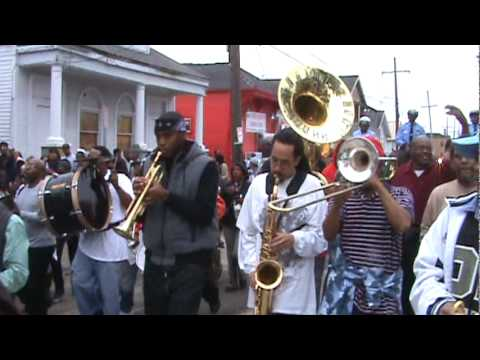 Treme Sidewalk Steppers Annual Second Line 2010 feat Rebirth Brass Band