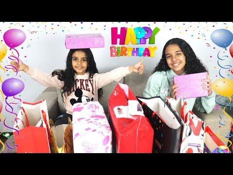 فتح هدايا عيد ميلاد نادين السابع 😍😍-- عملنا بركان و انفجر 😨😂