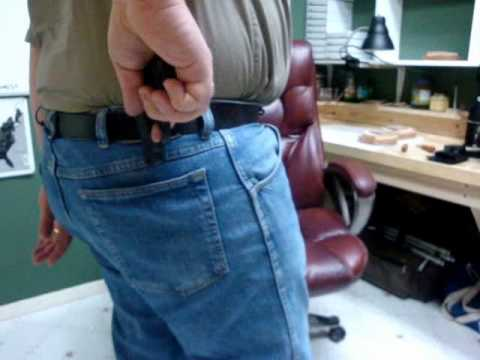 Wallet Holsters - Uncle George's Wallet Holster palm in draw