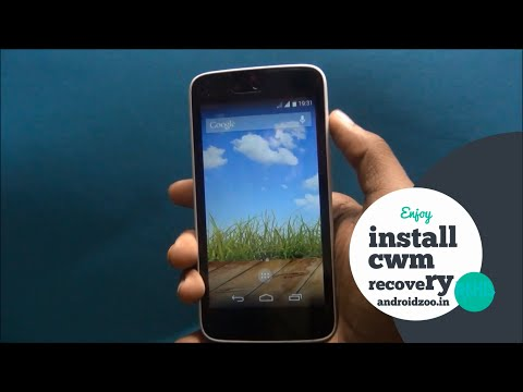 HOW TO INSTALL ANY  ANDROID ONE CWM RECOVERY