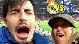 Vlog CON MI MADRE EN EL ESTADIO . Real Madrid vs PSG CHAMPIONS