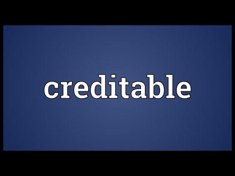 Header of creditable