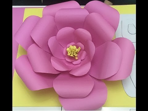 DIY: Paper Flower Assembly / Giant Paper Flower