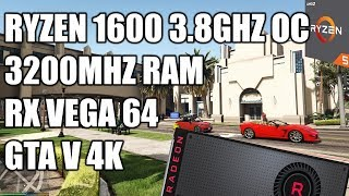 Ryzen 1600 + RX Vega 64 - GTA V Gameplay - 4k Very High Settings