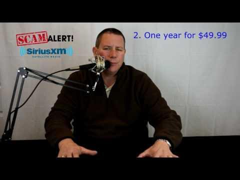 SiriusXM radio scam - MUST WATCH
