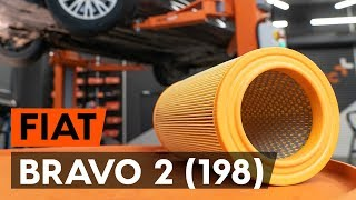 Cómo cambiar los filtro de aire en FIAT BRAVO 2 (198) [VÍDEO TUTORIAL DE AUTODOC]
