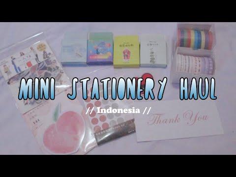 🌻mini stationery haul // indonesia✨