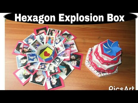 Hexagonal Explosion Box Birthday Anniversary Special