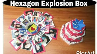 Hexagonal explosion box |  Birthday /anniversary / special occasion gifting ideas