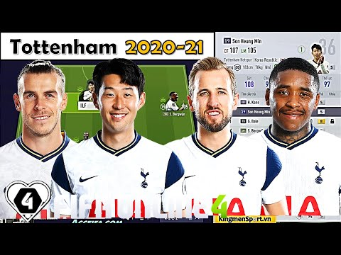 """Xây Dựng & Trải Nghiệm Đội Hình """" GÀ TRỐNG """" Tottenham 2020/21 Khủng Nhất Vs SON HEUNG, KANE & BALE"""