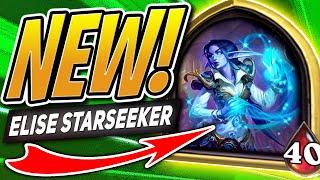 NEW BATTLEGROUNDS HERO: ELISE STARSEEKER! | Hearthstone Battlegrounds | HS Auto Battler