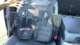 Harlej Tactical Seat Organizer For Police, Law Enforcement, Patrol Car, Contractor Pickup Truck