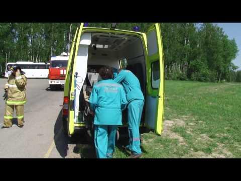 ДТП на въезде в Зеленодольск. Эвакуация вертолётом. КШУ с Зеленодольским звеном ТП РСЧС.