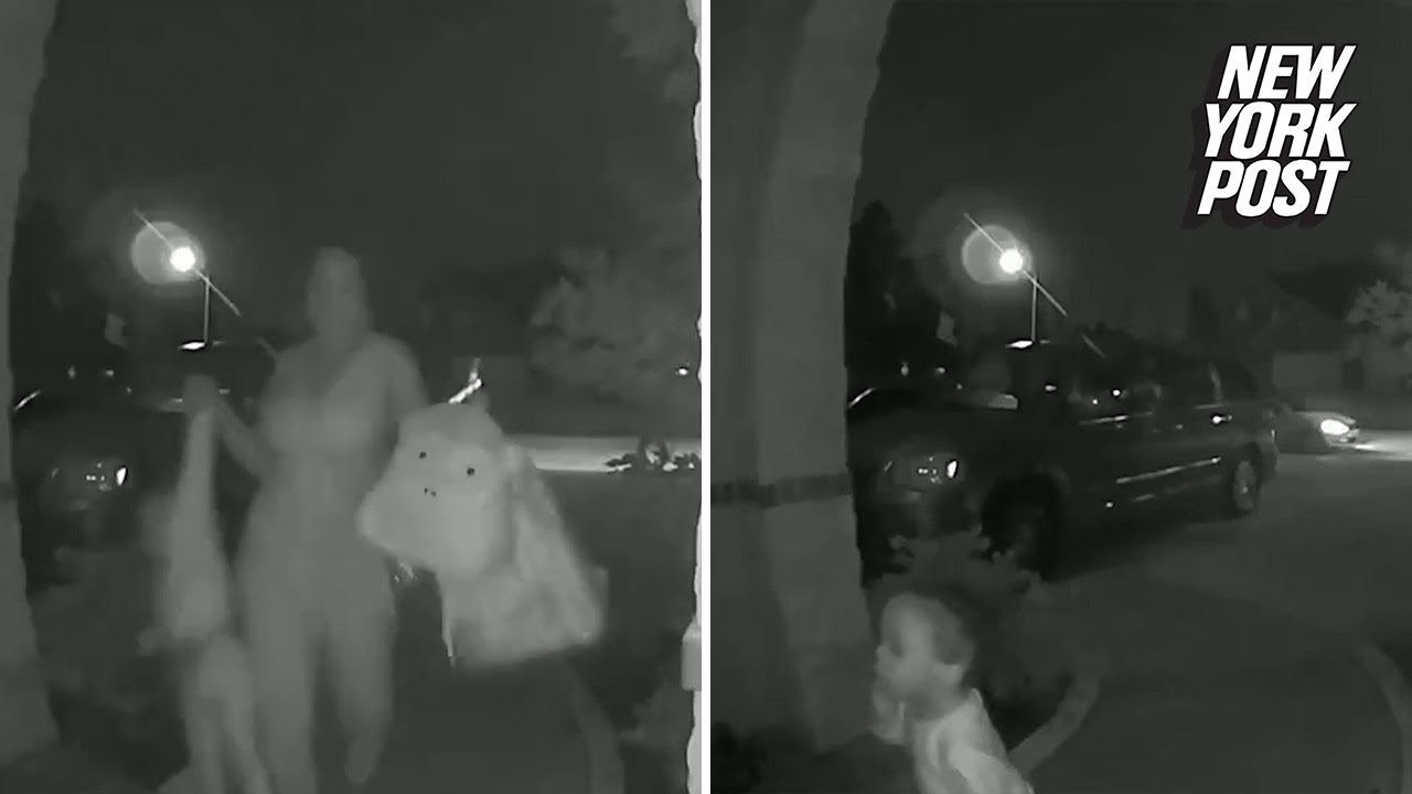 Woman abandons child on a stranger's doorstep