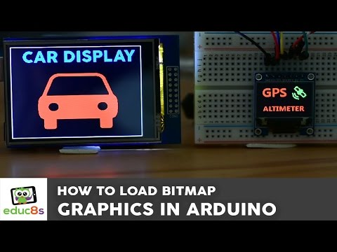 Arduino Tutorial: Bitmap graphics on an Arduino Touch Screen and other top Arduino Displays