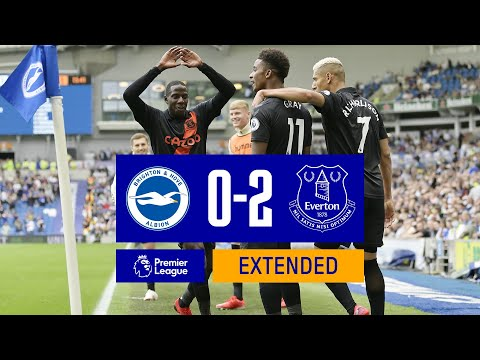 EXTENDED HIGHLIGHTS: BRIGHTON & HOVE ALBION 0-2 EVERTON