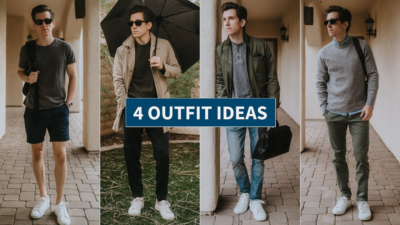 How to Wear White Sneakers | 4 White Sneakers Outfit Ideas (Casual, Athleisure, Smart Casual) 2
