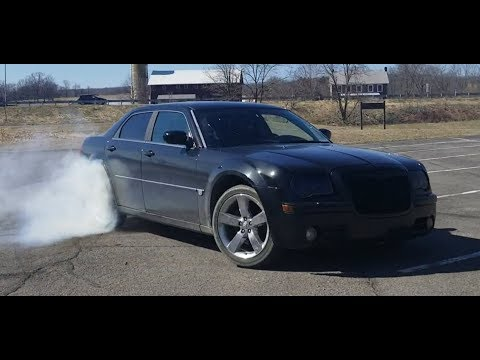 Chrysler 300C BURNOUT For 300 Subscribers! ALMOST BLEW UP!